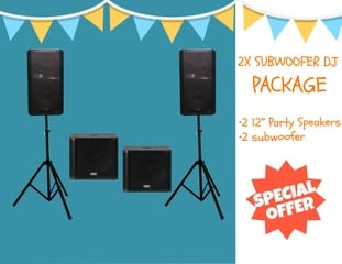 DJ hire darwin dual subwoofer package