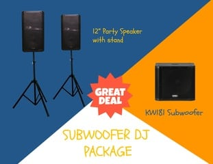 DJ hire darwin subwoofer package